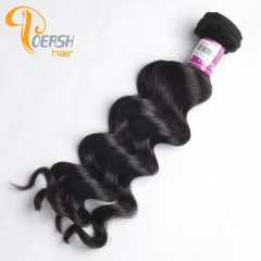 Poersh Hair 7A Virgin Remy Hair High Quality 1B Natural Black Color Big Deep Wave 1Pc/Lot Human Hair Weft