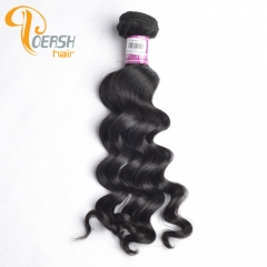 Poersh Hair 8A Unprocessed Raw Virgin Hair Top Quality 1B Natural Black Color Big Deep Wave 1Pc/Lot Human Hair Weft