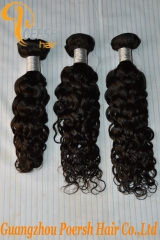Poersh Hair 7A Virgin Hair High Quality 1B Natural Black Color Italy Curly 2Pcs/Lot Human Hair Weft