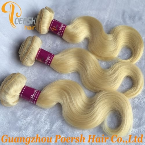 Poersh Hair 8A Unprocessed Raw Virgin Hair Top Quality 613 Blonde Color Body Wave 1Pc/Lot Human Hair Weft