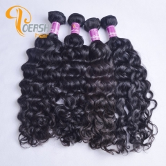 Poersh Hair 8A Uprocessed Raw Virgin Hair Top Quality 1B Natural Black Color Italy Curly 4Pcs/Lot Human Hair Weft