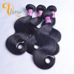 Poersh Hair 7A Virgin Remy Hair High Quality 1B Natural Black Color Body Wave 4Pcs/Lot Human Hair Weft