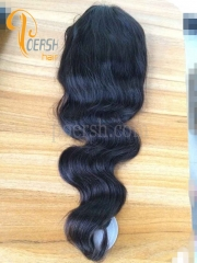 8A 1B Natural Black Color Body Wave Unprocessed Raw Virgin Human Hair Full Lace Wig