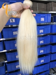 Poersh Hair 8A Unprocessed Raw Virgin Hair Top Quality 613# Blonde Color Straight Hair 3Pcs/Lot Human Hair Weft
