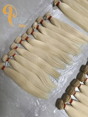 Poersh Hair 8A Unprocessed Raw Virgin Hair Top Quality 613# Blonde Color Straight Hair 10Pcs/Lot Human Hair Weft