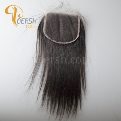 8A Top Quality 1B Natural Color Straight Hair 100% Unprocessed Virgin Human Hair 5×5  NS Thinnest Swiss Lace Closure