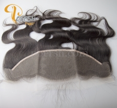 8A Top Quality 1B Natural Color Body Wave 100% Unprocessed Virgin Human Hair 13×4  NS Thinnest Swiss Lace Frontal
